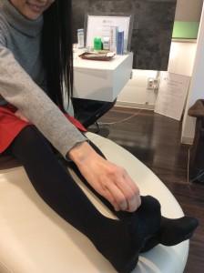 足の指のチェック