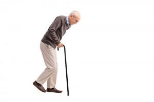 加齢による前傾姿勢