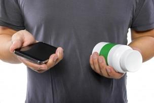 サプリメントとスマートフォン