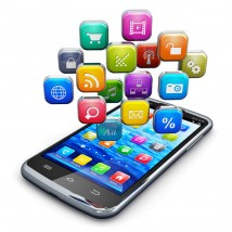 大量のアプリがインストールされたスマートフォン