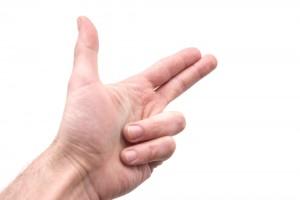 指2本で歯ぎしり解消